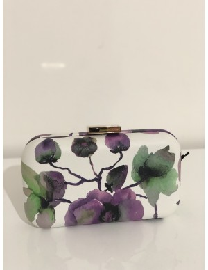 pochette fiori viola