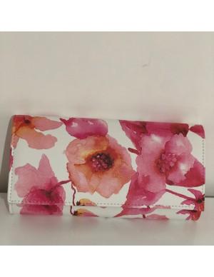 pochette a fiori rosa