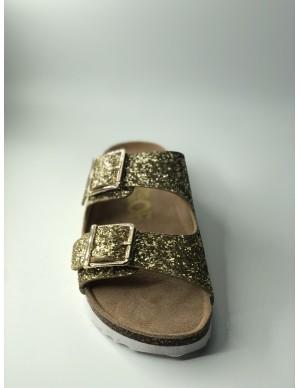 Sandalo glitter oro