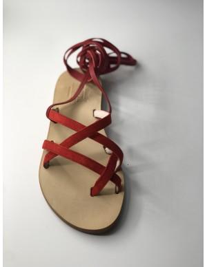 Sandalo schiava rosso