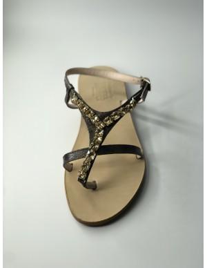 Sandalo gioiello in pitone