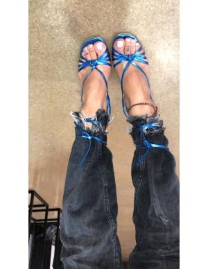Sandalo blu elettrico