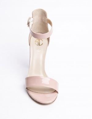 Sandalo rosa in pelle
