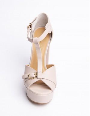 Sandalo plateaux nude