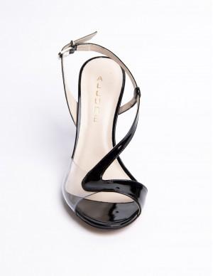 Sandalo pelle e plexiglass