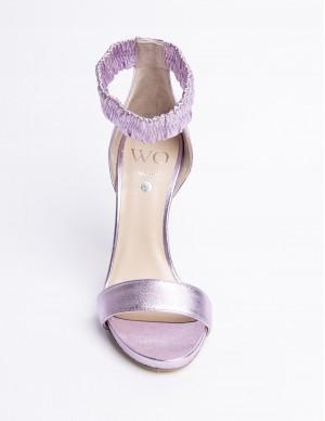 Sandalo laminato lilla con...
