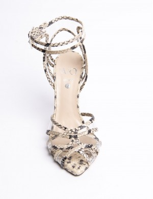 Sandalo pitonato+plexiglass