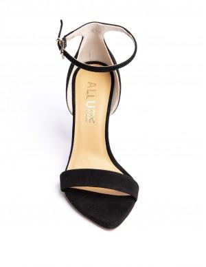 Sandalo nero in camoscio