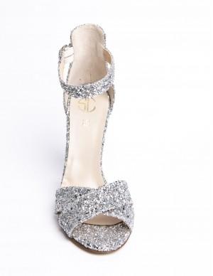 Sandalo glitter argento