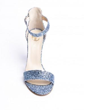Sandalo glitter blu