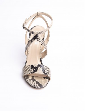 Sandalo pelle pitone